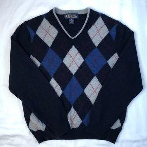 BROOKS BROTHERS- Boys Argyle Wool Sweater